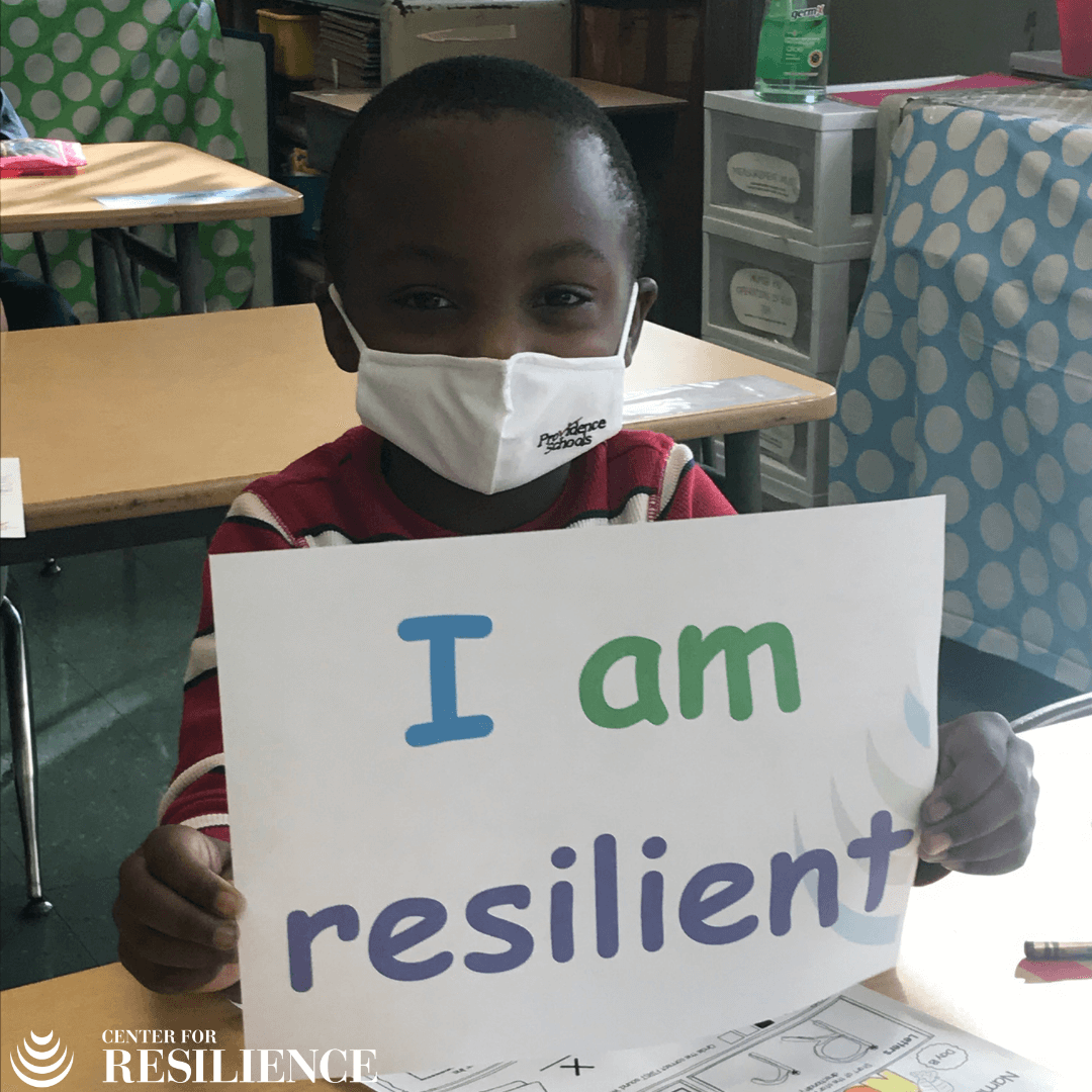I am Resilient Providence Public Schools Student Holding Sign